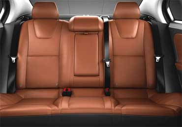 Volvo S60 rear seats.