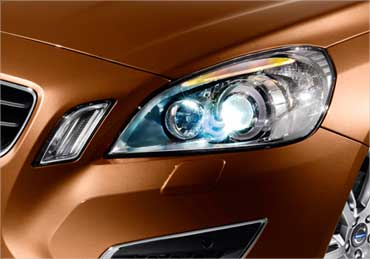 Volvo S60 headlight.