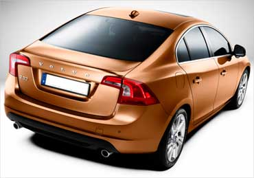 Rear view of Volvo S60.