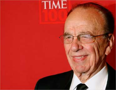 Murdoch arrives for Time magazine's 100 most influential people gala in New York on May 8, 2008.