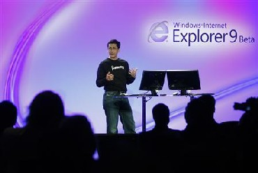 Microsoft Corp Vice President of Internet Explorer Dean Hachamovitch unveils Microsoft Internet Explorer 9 Beta version