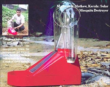 Mathews K Mathew, Solar Mosquito Destroyer.