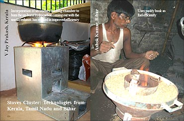 Ashok Kumar with the stove.