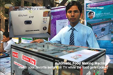Abhishek Bhagat's Automatic Food Making Machine.