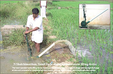 N Sakthimainthan, Hand operated water lifting pump.