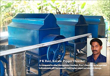 P K Ravi, Pepper thresher.