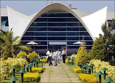 The Infosys campus in Bengaluru.
