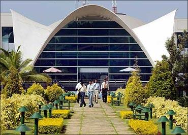 The Infosys campus in Bengaluru.
