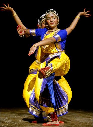 Bharatanatyam dancers in Chennai.