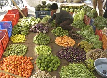 Food inflation remains high in India.