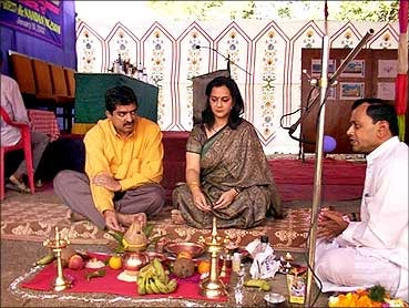 Nandan Nilekani with wife Rohini.