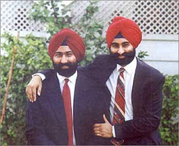 Malvinder Singh (L),  Shivinder Singh.