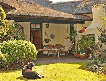 Mahatma Gandhi's house -- The Kraal -- in Johannesburg.