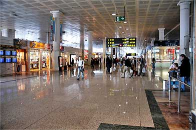 Barcelona Airport Terminal.