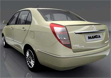 Rear view of Manza.