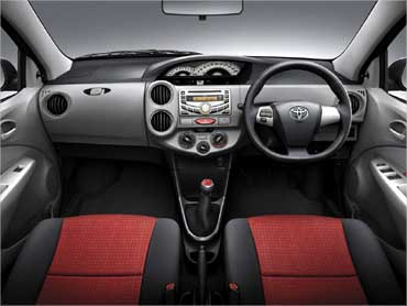 Interior view of Etios.