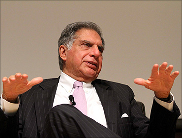 Tata Group chairman Ratan Tata at the 'Unpacking the Nano' symposium.