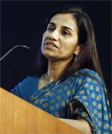 ICICI Bank chief executive Chanda Kochhar speaks during the Vibrant Gujarat Global Investors' Summit