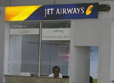A Jet Airways' counter.