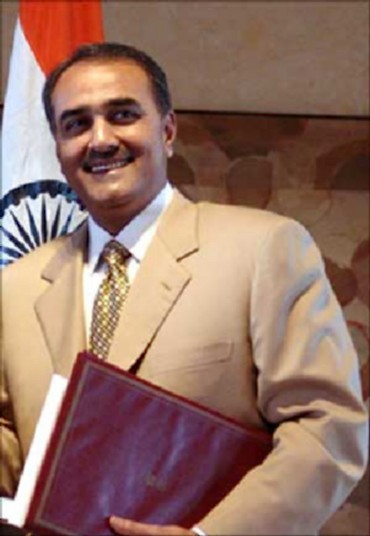 Minister of Heavy Industries and Public Enterprises Praful Patel and Minister
