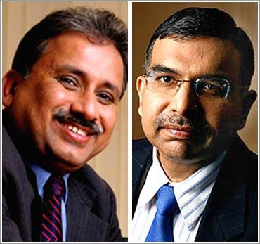 Fomer Wipro CEOs Suresh Vaswani (L) and Girish Paranjpe.
