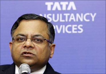 Tata Consultancy Services CEO and managing director N Chandrasekaran.