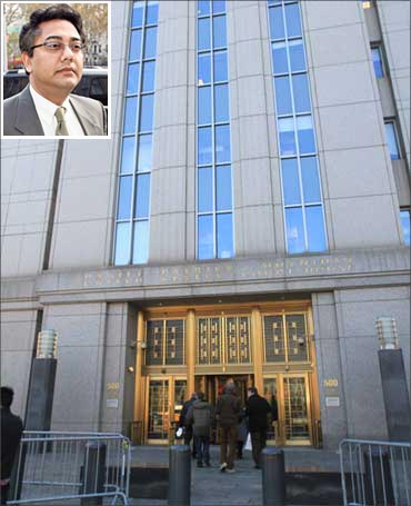 Manhattan Federal Court. (Inset) Rajiv Goel)