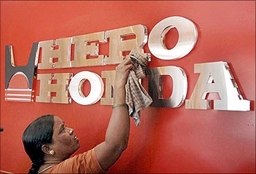 Promoters of Hero Honda have pledged shares worth Rs. 200 crore.