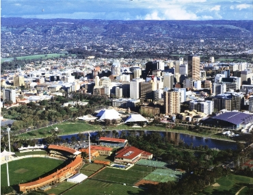 The skyline of Adelaide.