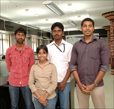 Sindhuja with her team at Seppan.