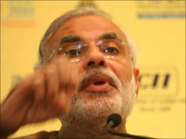 Gujarat Chief Minister Narendra Modi.