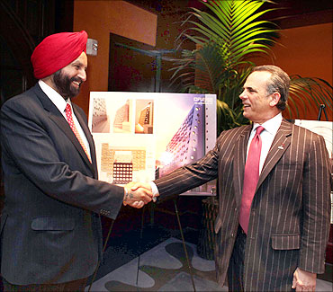 Sant Chatwal, chairman and CEO Chatwal Group and Eric Danziger, president and CEO Wyndham group.