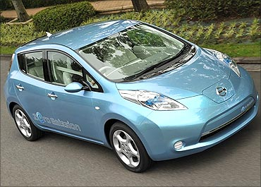 Electric car, The Leaf.
