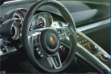 Dashboard of Porsche 918 Spyder.