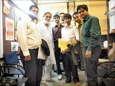 Students' team with Prof Anil Gupta at IIM-Ahmedabad.