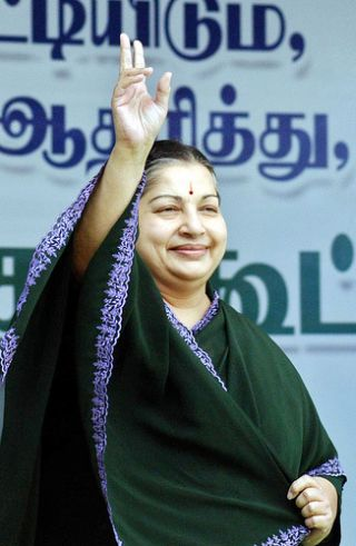 AIADMK chief and former Tamil Nadu chief minister J Jayalalithaa.