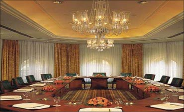 A meeting room at the hotel.