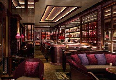 The Library Bar at Leela Kempinski New Delhi.