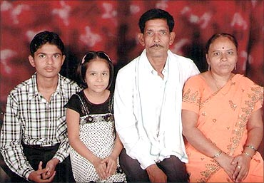 Rajendra with his family.