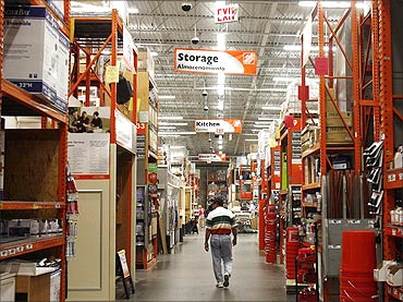Home Depot has 2,242 outlets.