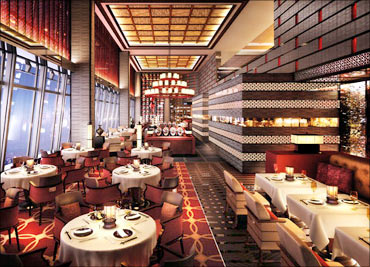 Ritz Carlton restaurant.