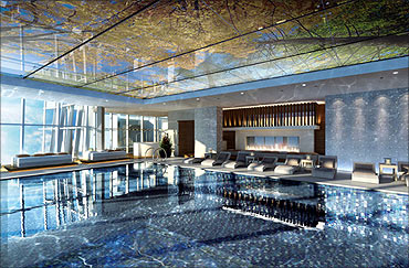 Spa at the hotel.