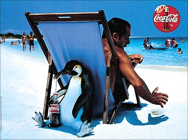 Coca-cola advertisement.