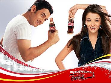 Coca-cola advertisement.