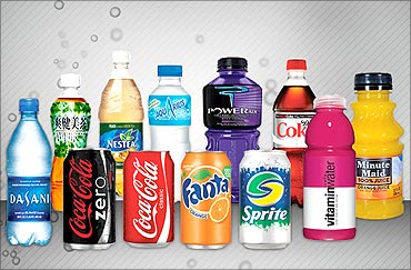 Coca-cola's products.