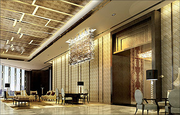 Ritz Carlton lobby, Hong Kong.