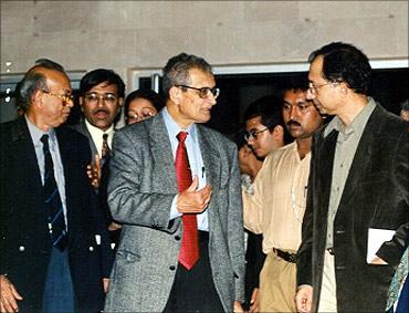 Kaushik Basu with Amartya Sen.
