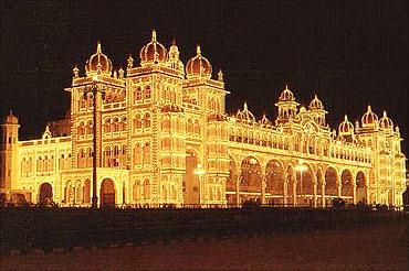 The Mysore Palace.
