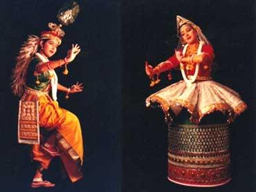 Manipuri dancers.