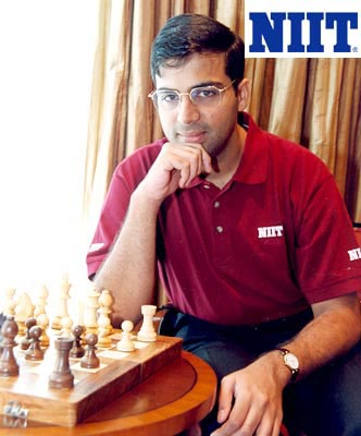 World chess champion Vishwanathan Anand endorsing the NIIT brand.